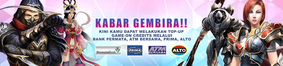 [Game-On] TopUp ATM Bersama & Permata Bank
