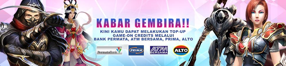 [Game-On] TopUp ATM Bersama & Permata Bank