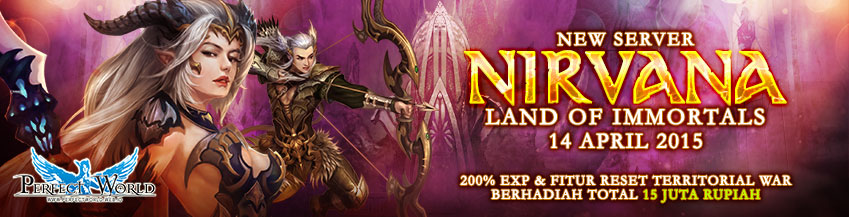 [PW] New Server : Nirvana Land of Immortals