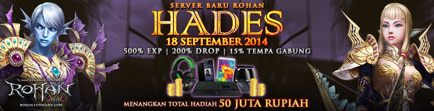 Update : Server Baru Hades (18 September 2014)