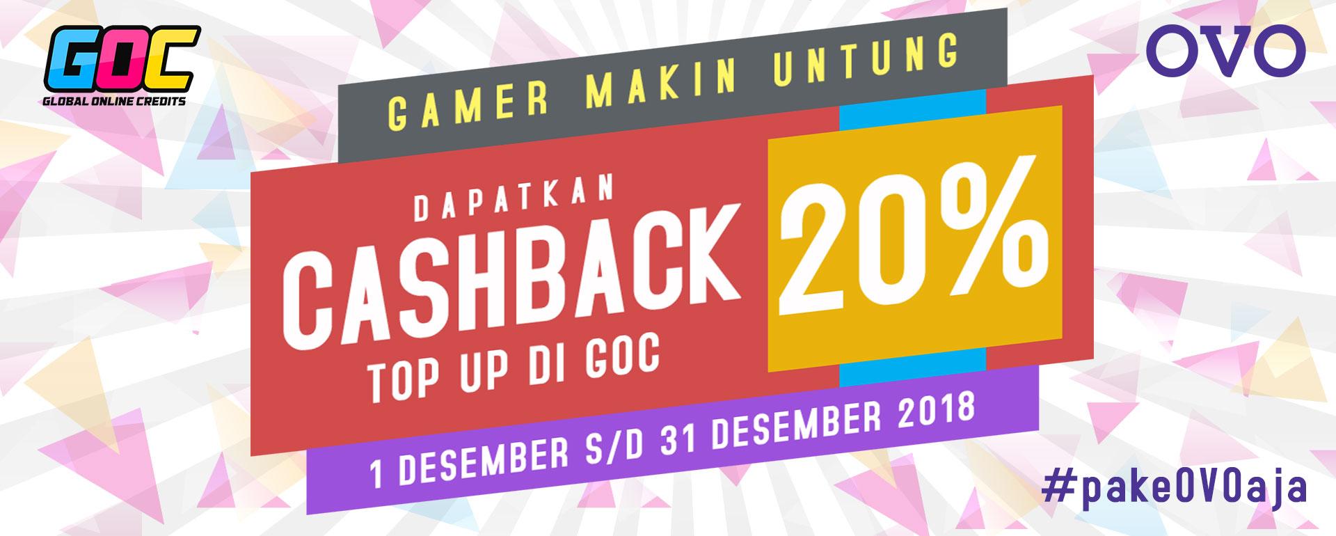 [GOC] Cashback 20% OVO Top Up di GOC