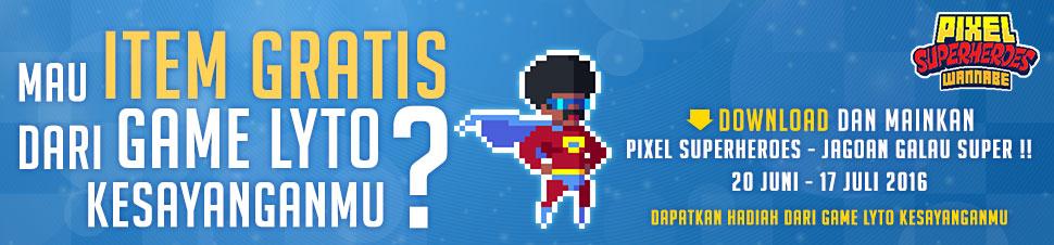 Pixel Superheroes x Lytogame Free Item Giveaway