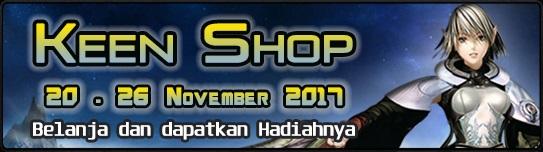 [Event] Keen Shop (20 -26 November 2017)