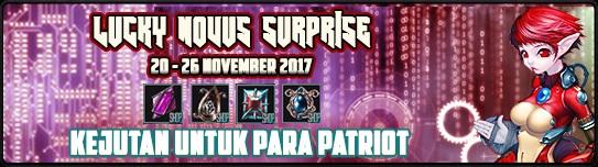[Event] Lucky Novus Surprise (20 - 26 November 2017)